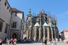 Domkyrka av helgon Vitus, Prague royaltyfri foto