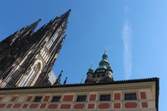 Domkyrka av helgon Vitus, Prague arkivbilder