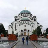Domkyrka av helgonet Sava, Belgrade arkivbild