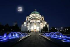 Domkyrka av helgonet Sava i Belgrade, Serbien Royaltyfri Bild