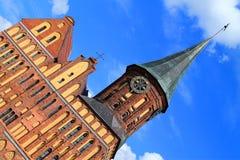 Domkyrka av Kaliningrad, tidigare huvudsaklig katolsk tempel av staden av Konigsberg royaltyfria bilder