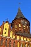 Domkyrka av Koenigsberg. Gotiskt ett 14th århundrade arkivfoton