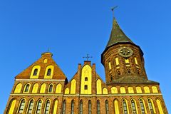 Domkyrka av Koenigsberg. Gotiskt 14th århundrade royaltyfri foto