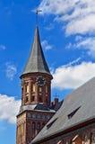 Domkyrka av Koenigsberg. Gotiskt 14th århundrade arkivbilder