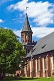 Domkyrka av Koenigsberg. Gotiskt 14th århundrade arkivbild