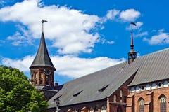 Domkyrka av Koenigsberg. Gotiskt 14th århundrade royaltyfria foton