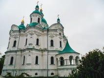 Domkyrka av Kristi födelsen av den välsignade Bogoroditsy- ortodoxa domkyrkan i den Kozelets Chernihiv regionen, Ukraina Royaltyfri Foto