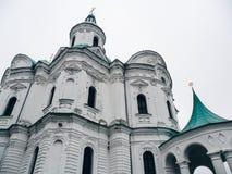 Domkyrka av Kristi födelsen av den välsignade Bogoroditsy- ortodoxa domkyrkan i den Kozelets Chernihiv regionen, Ukraina Royaltyfria Bilder