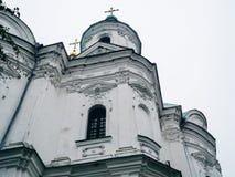 Domkyrka av Kristi födelsen av den välsignade Bogoroditsy- ortodoxa domkyrkan i den Kozelets Chernihiv regionen, Ukraina Royaltyfria Foton