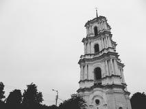 Domkyrka av Kristi födelsen av den välsignade Bogoroditsy- ortodoxa domkyrkan i den Kozelets Chernihiv regionen, Ukraina Arkivfoto