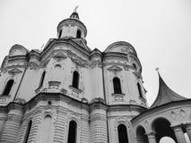Domkyrka av Kristi födelsen av den välsignade Bogoroditsy- ortodoxa domkyrkan i den Kozelets Chernihiv regionen, Ukraina Arkivbild