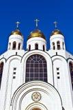 Domkyrka av Kristus frälsaren - huvudsaklig ortodox tempel av Kaliningrad (till Koenigsberg 1946), Ryssland arkivfoton