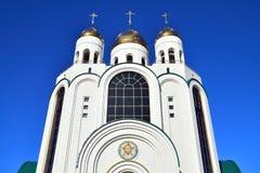 Domkyrka av Kristus frälsaren. Kaliningrad (till Koenigsberg 1946), Ryssland arkivbild