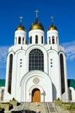 Domkyrka av Kristus frälsaren. Kaliningrad (till Koenigsberg 1946), Ryssland fotografering för bildbyråer