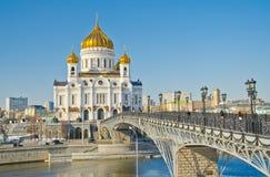 Domkyrka av Kristus frälsaren, Moscow Royaltyfria Foton