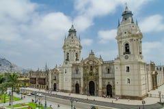 Domkyrka av Lima i Peru arkivfoto