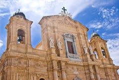 Domkyrka av marsalan, Italien Arkivbild