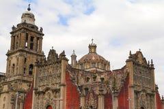 Domkyrka av Mexiko - stad V arkivbild