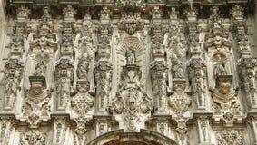 Domkyrka av Mexiko - stad X arkivbild