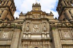 Domkyrka av Mexiko - stad XVII Arkivbild