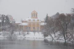 Domkyrka av Mikhail och Fedor i Chernigov, Ukraina royaltyfri foto
