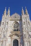 Domkyrka av Milan – framdelen Arkivbild