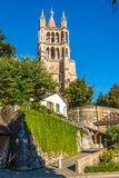 Domkyrka av Notre Dame i Lausanne Royaltyfria Foton