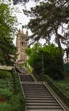 Domkyrka av Notre Dame, Lausanne Arkivfoto