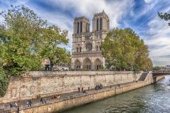 Domkyrka av Notre Dame, Paris, Frankrike Arkivfoto