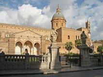 Domkyrka av Palermo, Sicily Arkivbild