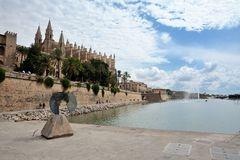 Domkyrka av Palma de Majorca Arkivfoto