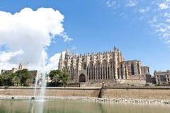 Domkyrka av Palma de Mallorca Arkivfoton