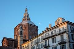 Domkyrka av Pavia Arkivfoto