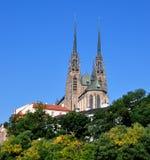 Domkyrka av Peter och Paul i Brno, Tjeckien, Europa Arkivbilder