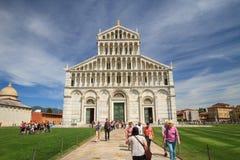Domkyrka av Pisa duomodi Santa Maria Assunta, Tuscany, Italien Arkivfoto