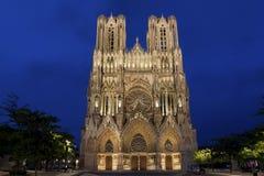 Domkyrka av Reims Arkivbilder