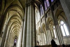 Domkyrka av Reims - Interior Arkivbild