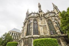 Domkyrka av Reims - yttersida Royaltyfria Bilder