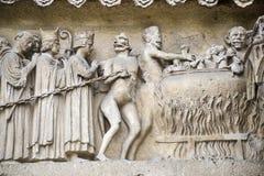 Domkyrka av Reims - yttersida Royaltyfria Foton