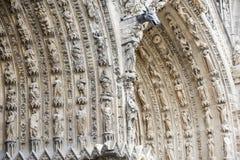Domkyrka av Reims - yttersida Royaltyfri Foto