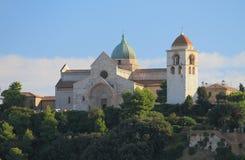 Domkyrka av sakrala Kiriak Ancona Italien royaltyfria bilder