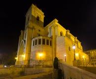 Domkyrka av San Juan de Albacete spain Arkivfoton