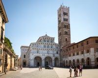 Domkyrka av San Martino i Lucca, Tuscany, Italien Royaltyfri Foto