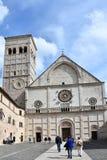Domkyrka av San Rufino i Assisi, Umbria fotografering för bildbyråer