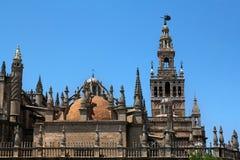 Domkyrka av Sanktt Mary av se i Seville, Spanien Arkivfoto