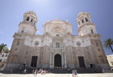Domkyrka av Santa Cruz de Cadiz, Spanien, 2013 arkivbild