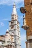 Domkyrka av Santa Maria Assunta e San Geminiano av Modena, i Emilia-Romagna italy Royaltyfri Fotografi