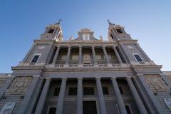 Domkyrka av Santa Maria la Real de la Almudena, Madrid Royaltyfri Fotografi