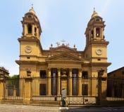 Domkyrka av Santa Maria la Real i Pamplona Arkivfoto