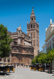 Domkyrka av Sevilla i Andalucia, Spanien. Arkivfoton